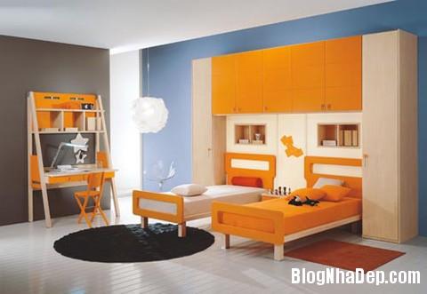 phong ngu mau cam2 Sưởi ấm căn phòng ngủ với gam màu nóng