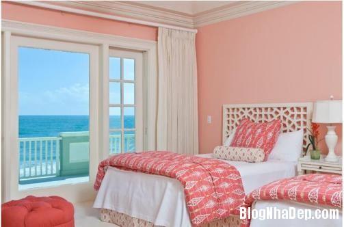 phong ngu mau hong 6 Nhẹ nhàng quyến rũ với gam màu hồng tô điểm phòng ngủ