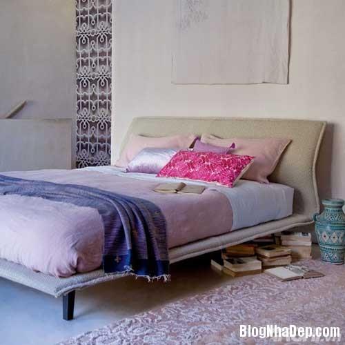 phong ngu mau xanh 3  Phòng ngủ dịu dàng với tông màu xanh