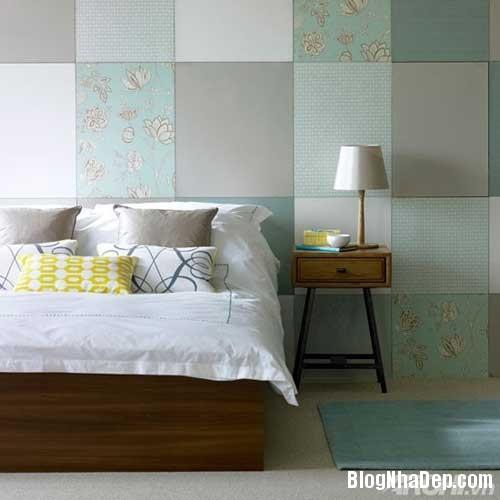 phong ngu mau xanh 4  Phòng ngủ dịu dàng với tông màu xanh