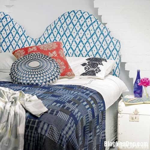 phong ngu mau xanh 6  Phòng ngủ dịu dàng với tông màu xanh