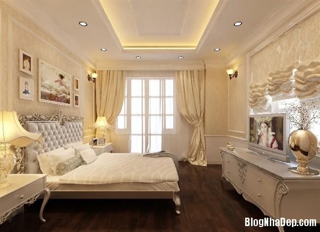 phong ngu tan co dien 1 Thiết kế phòng ngủ theo phong cách tân cổ điển