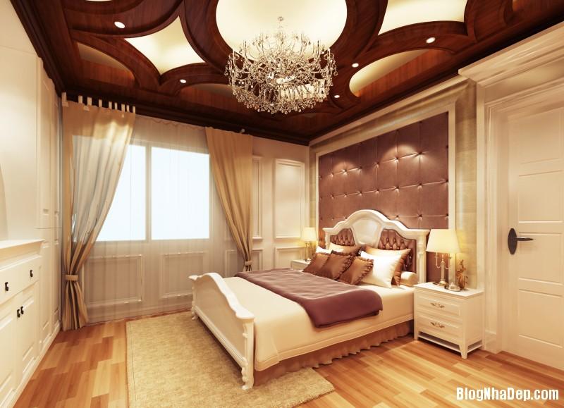 phong ngu tan co dien 4 Thiết kế phòng ngủ theo phong cách tân cổ điển