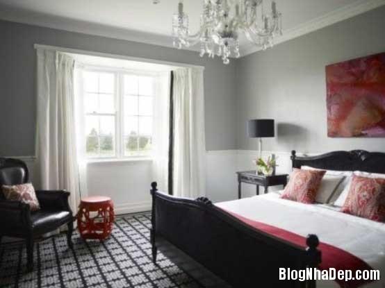 phong ngu Sử dụng màu đỏ để làm điểm nhấn cho phòng ngủ