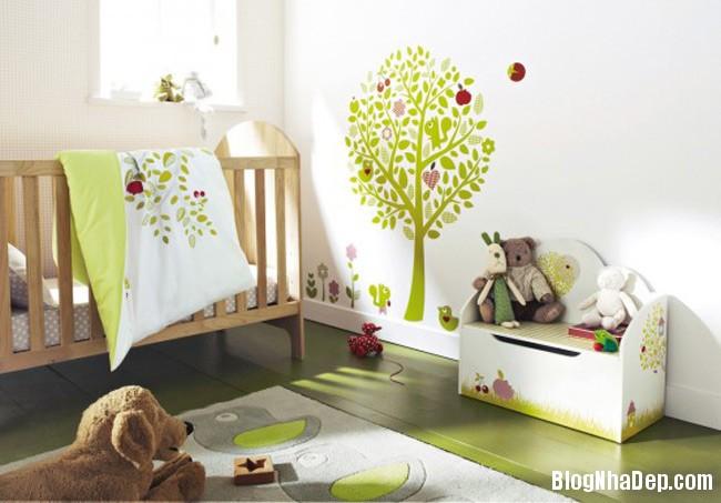 phong tre so sinh 1 Trang trí không gian hài hòa cho phòng trẻ sơ sinh