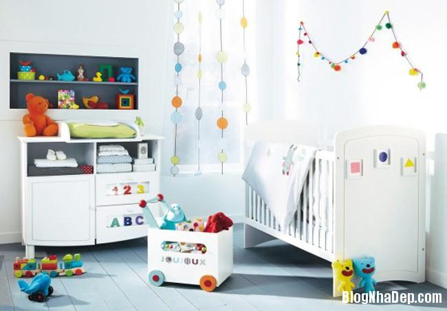 phong tre so sinh 2 Trang trí không gian hài hòa cho phòng trẻ sơ sinh