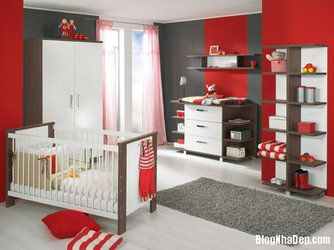 phong tre so sinh 3 Trang trí không gian hài hòa cho phòng trẻ sơ sinh