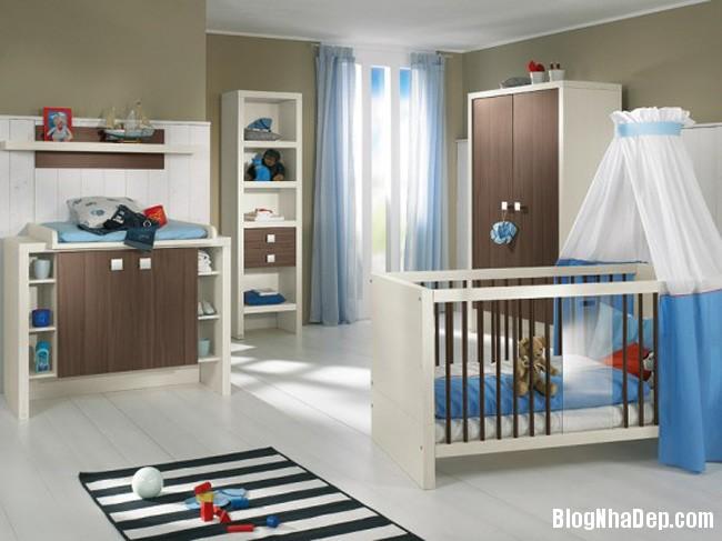 phong tre so sinh 4 Trang trí không gian hài hòa cho phòng trẻ sơ sinh