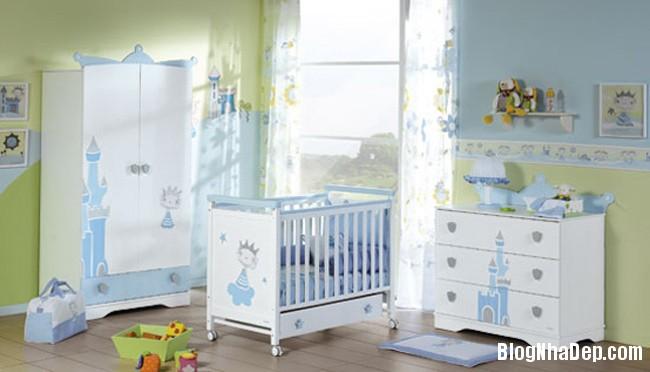 phong tre so sinh 6 Trang trí không gian hài hòa cho phòng trẻ sơ sinh