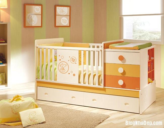 phong tre so sinh 7 Trang trí không gian hài hòa cho phòng trẻ sơ sinh