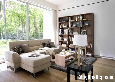phong khach dep2 Phối màu cho phòng khách đẹp tự nhiên