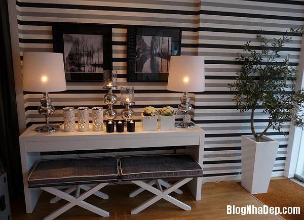 small horizontal stripes on Trang trí nội thất nhà bằng họa tiết kẻ sọc