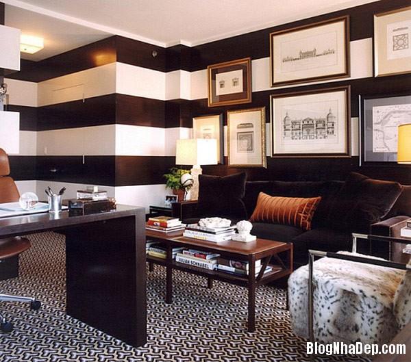 striped room 3 Trang trí nội thất nhà bằng họa tiết kẻ sọc