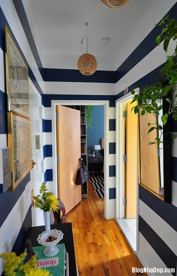 striped room 6 Trang trí nội thất nhà bằng họa tiết kẻ sọc