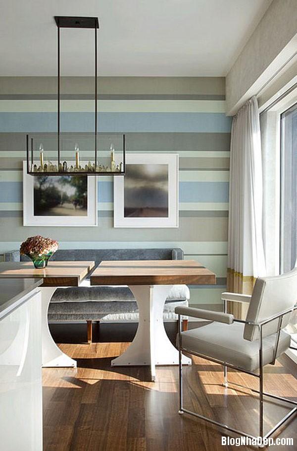striped room 8 Trang trí nội thất nhà bằng họa tiết kẻ sọc