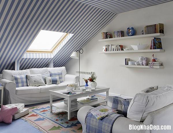 stripes home decor 1 Trang trí nội thất nhà bằng họa tiết kẻ sọc