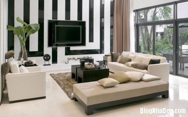 stripes home decor 3 Trang trí nội thất nhà bằng họa tiết kẻ sọc
