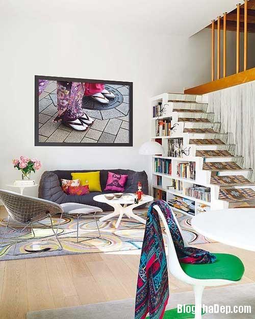 thiet ke nha dep 11 Cách bài trí sống động trong nhà đẹp ở Barcelona