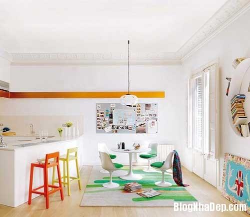 thiet ke nha dep 21 Cách bài trí sống động trong nhà đẹp ở Barcelona
