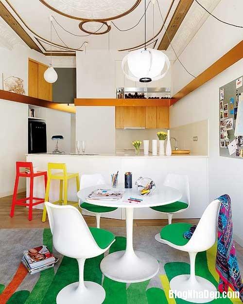 thiet ke nha dep 41 Cách bài trí sống động trong nhà đẹp ở Barcelona