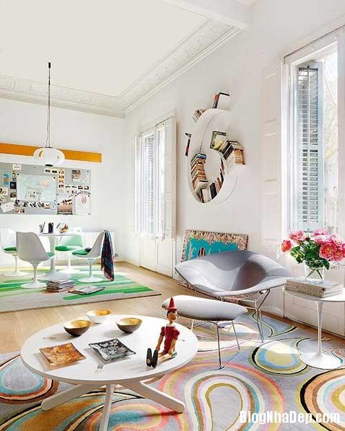 thiet ke nha dep 51 Cách bài trí sống động trong nhà đẹp ở Barcelona