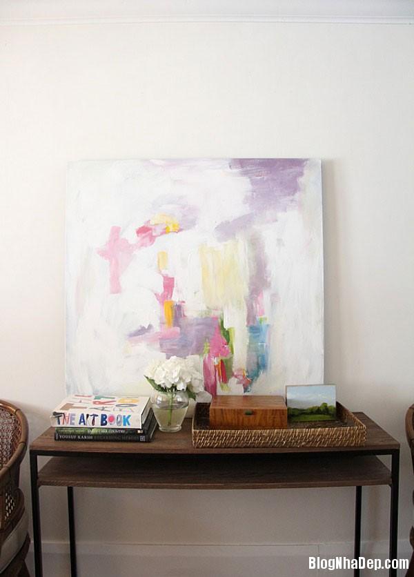 x cc468 Trang trí phòng khách đẹp với tranh trừu tượng