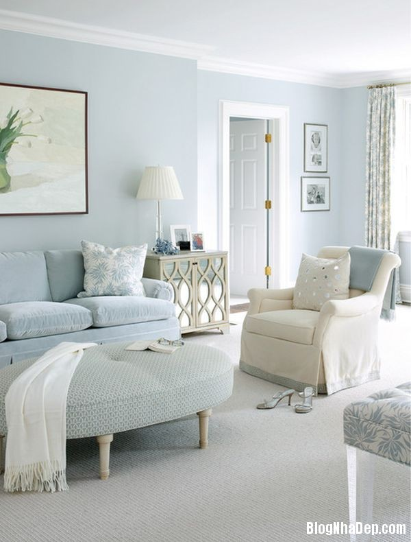 1 1399202332 Căn nhà tươi mát với nội thất màu xanh dương