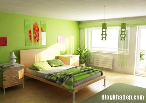 1375310226 1 Thay áo cho phòng ngủ với màu xanh lá cây