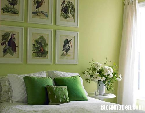 1375310226 10 Thay áo cho phòng ngủ với màu xanh lá cây