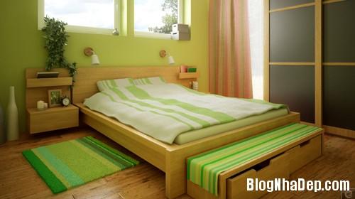 1375310226 4 Thay áo cho phòng ngủ với màu xanh lá cây