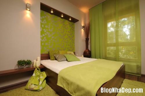 1375310226 5 Thay áo cho phòng ngủ với màu xanh lá cây