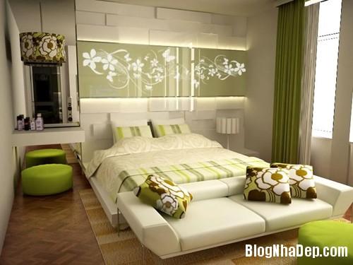 1375310226 6 Thay áo cho phòng ngủ với màu xanh lá cây