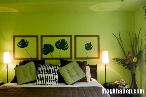 1375310226 7 Thay áo cho phòng ngủ với màu xanh lá cây