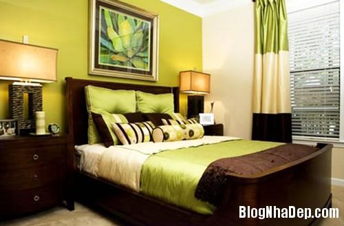 1375310226 8 Thay áo cho phòng ngủ với màu xanh lá cây