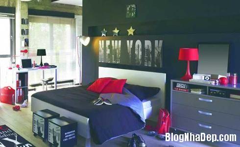 154 32 Phòng ngủ ấn tượng với các bức tường trang trí