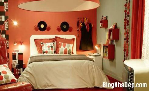 154 33 Phòng ngủ ấn tượng với các bức tường trang trí