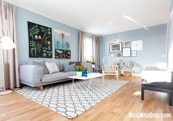 2 1399202414 Căn nhà tươi mát với nội thất màu xanh dương