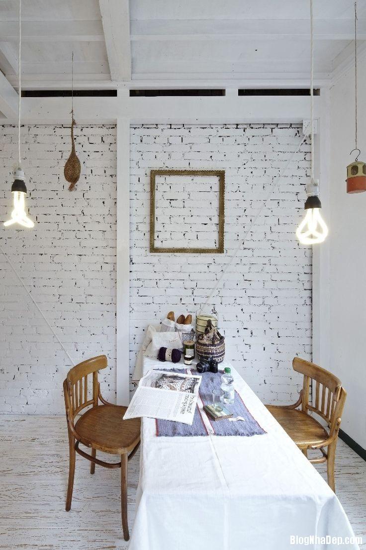 20140529074039496 Sử dụng tường gạch trong trang trí nội thất