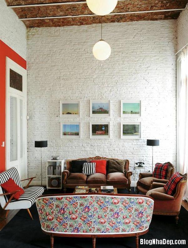 20140529074044285 Sử dụng tường gạch trong trang trí nội thất
