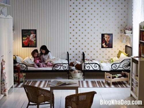 20140531074010224 Thiết kế không gian phòng ngủ chung cho hai bé