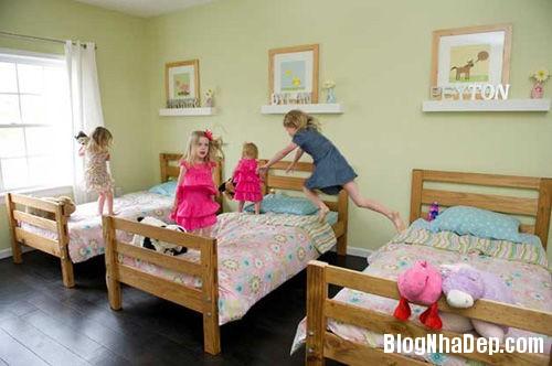 20140531074013890 Thiết kế không gian phòng ngủ chung cho hai bé