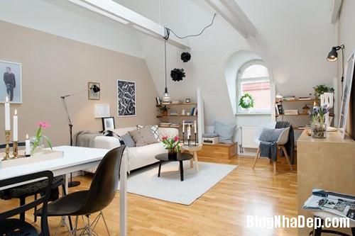 20140602083117237 Không gian thoáng cho căn hộ nhỏ trần nhà thấp