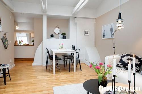 20140602083119343 Không gian thoáng cho căn hộ nhỏ trần nhà thấp