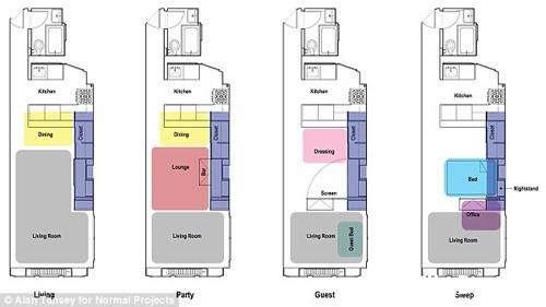 20140603074101037 Tối đa hóa không gian trong căn hộ nhỏ