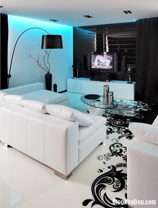 20140604071755180 Trang trí nhà bằng hai màu đen trắng