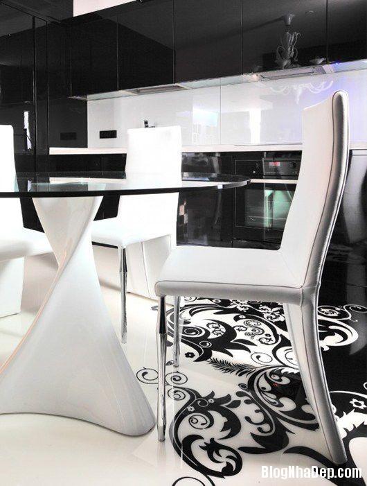 20140604071800890 Trang trí nhà bằng hai màu đen trắng