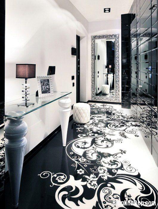 20140604071803199 Trang trí nhà bằng hai màu đen trắng