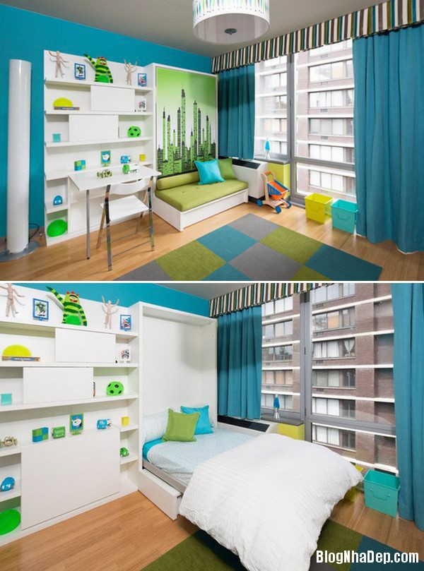 20140613012415465 Phòng ngủ nhỏ trở nên rộng rãi hơn nhờ giường âm