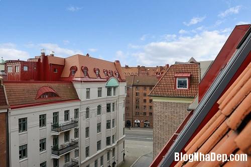 20140624112133 image003 Không gian trắng tinh trong căn hộ gác mái ở Thụy Điển