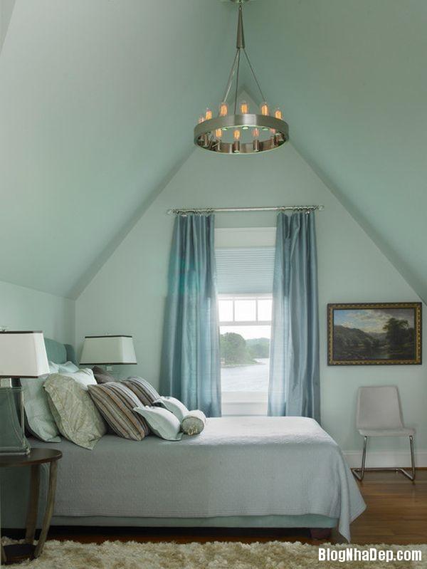 4 1399202533 Căn nhà tươi mát với nội thất màu xanh dương
